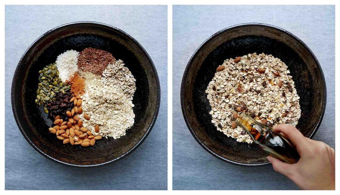 granola bowls maple syrup