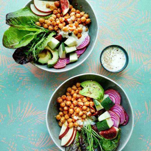 veggie bowls chickpeas