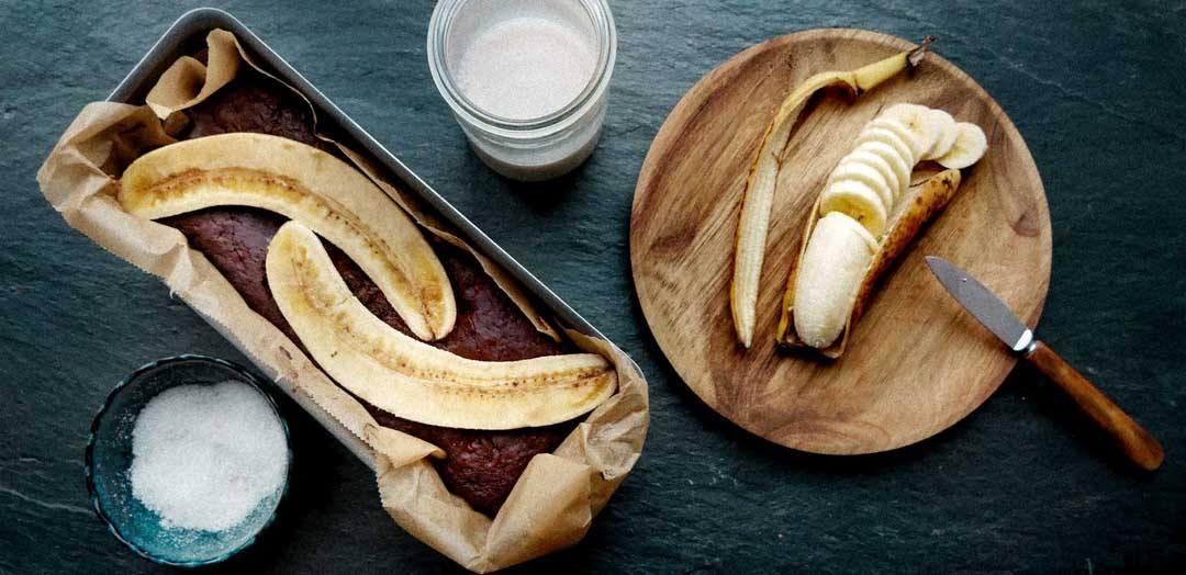 banana bread in the making