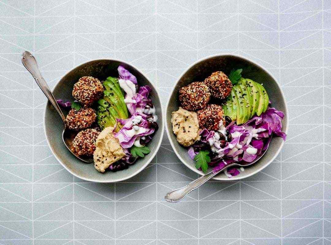 quinoa falafel hummus