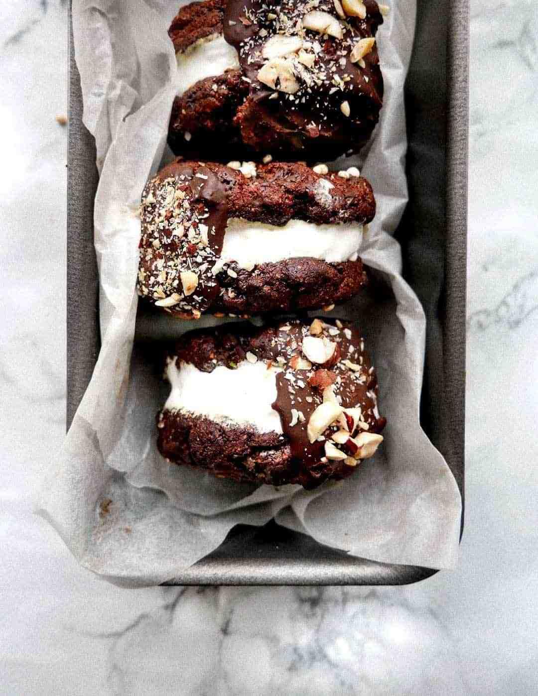 best chocolate cookies sandwich vanilla ice cream