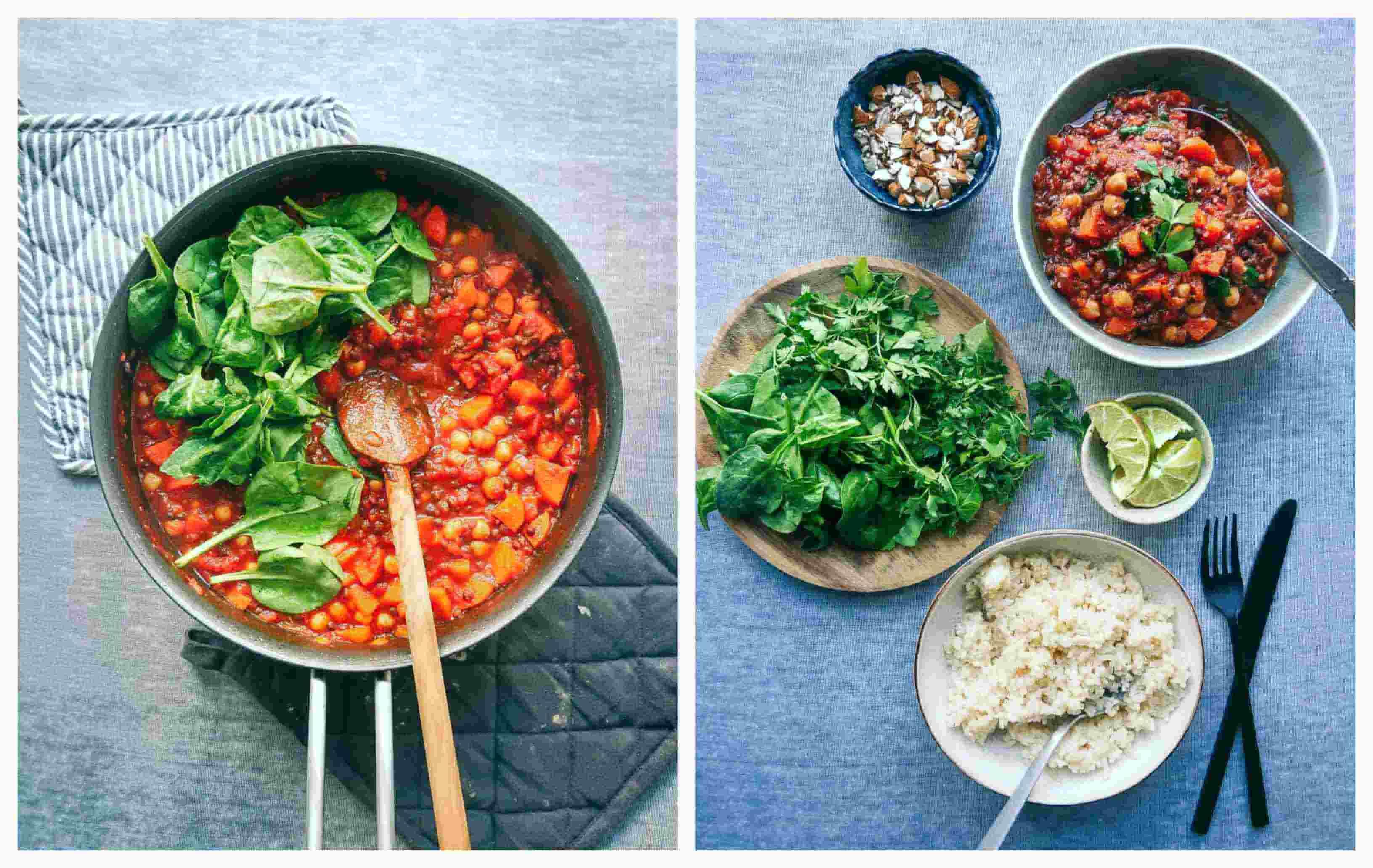 Moroccan stew ingredients