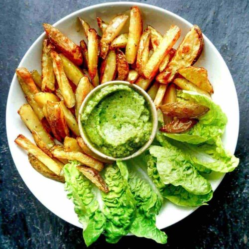 avocado dip french fries