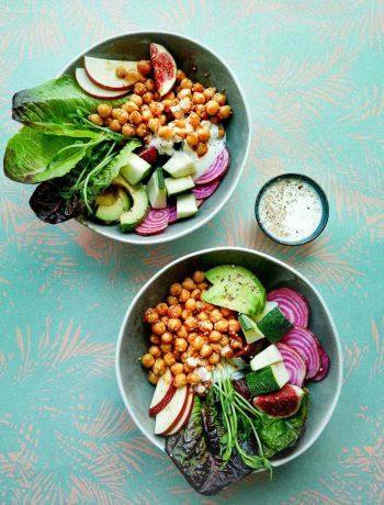 sunde salatskåle kikærter