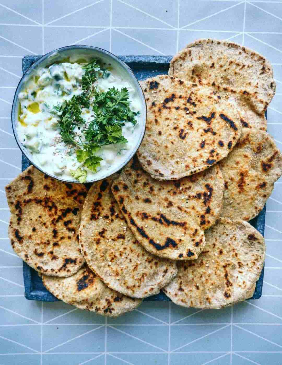 flatbreads vegan tzatziki