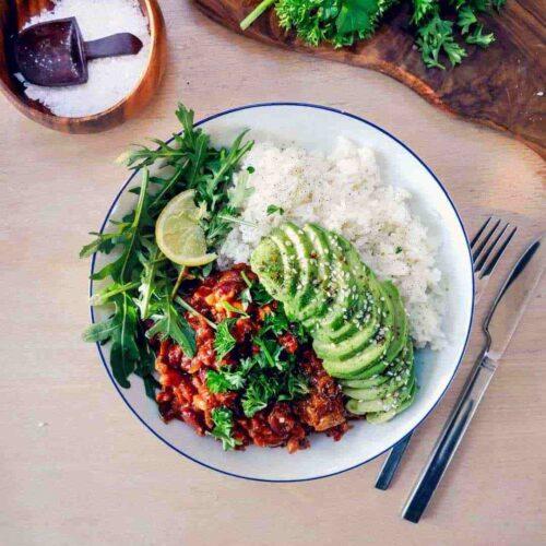 vegetarisk dahl med kidneybønner