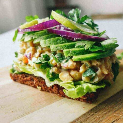 chickpea salad bread