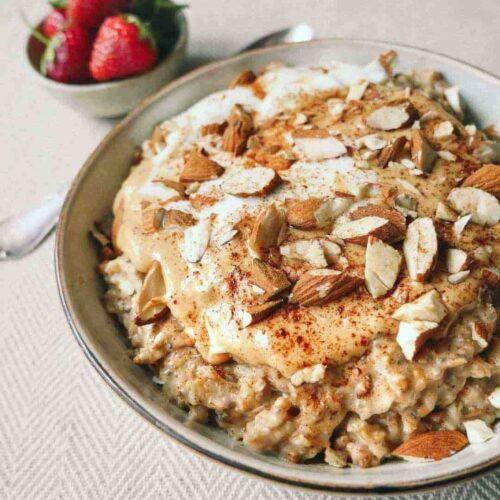 oat meal cinnamon vegan