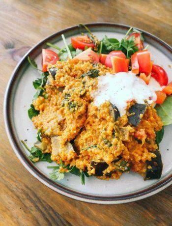 quinoa-gryde med grøntsager