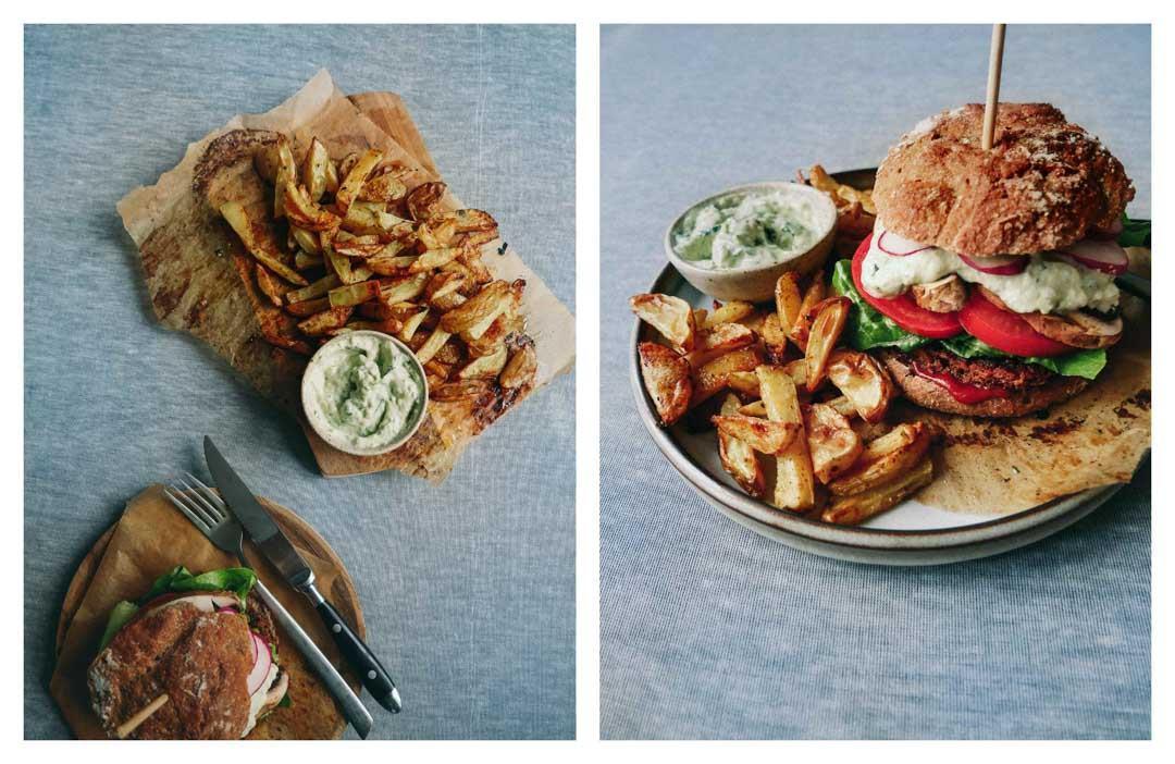 french fries veggie burger