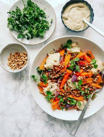 gulerodssalat hummus