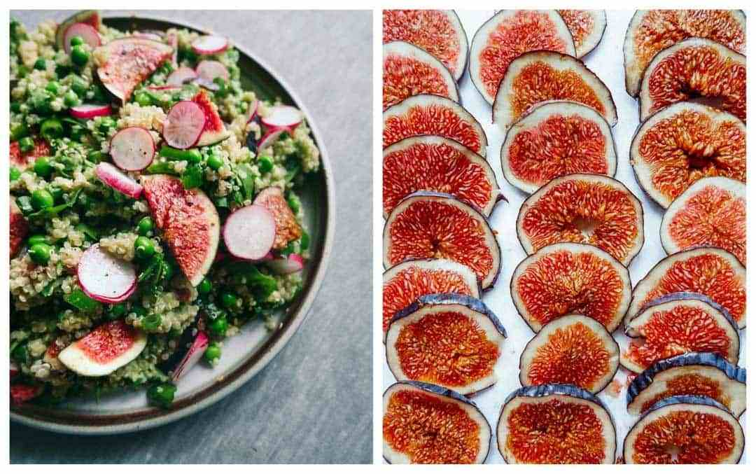 fig salad with quinoa
