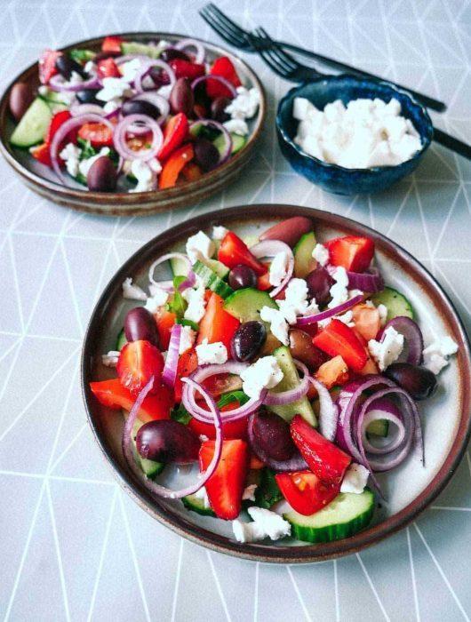 greek salad vegan