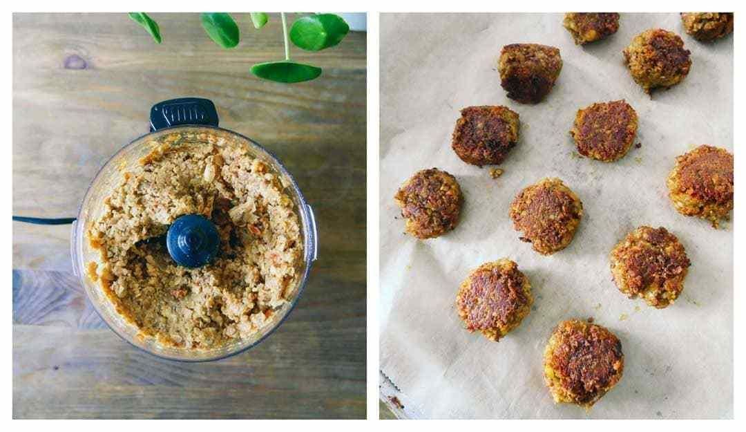 Falafel meatballs – Tortilla flatbreads