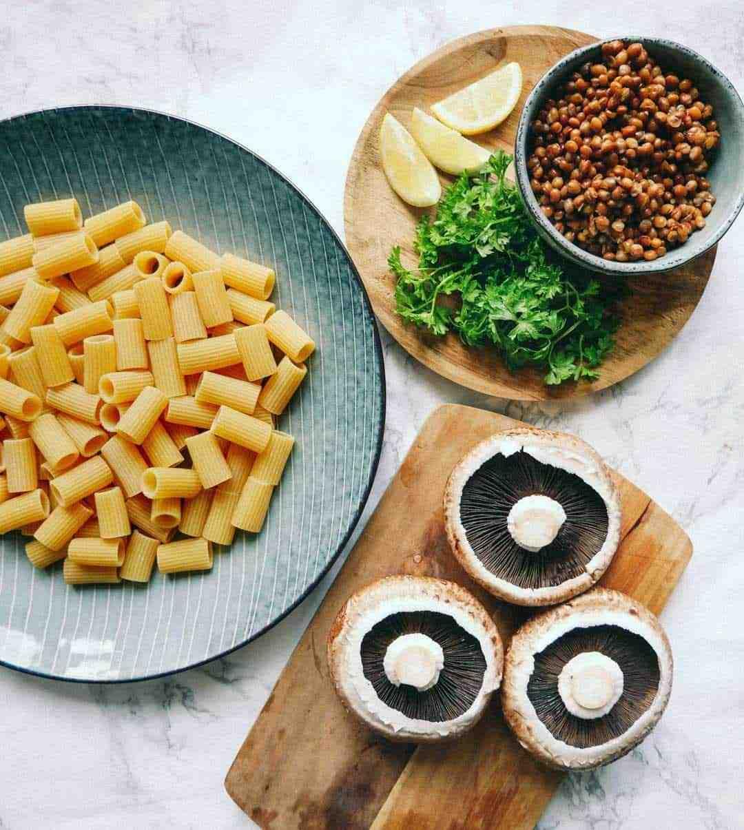 portobello pasta opskrift
