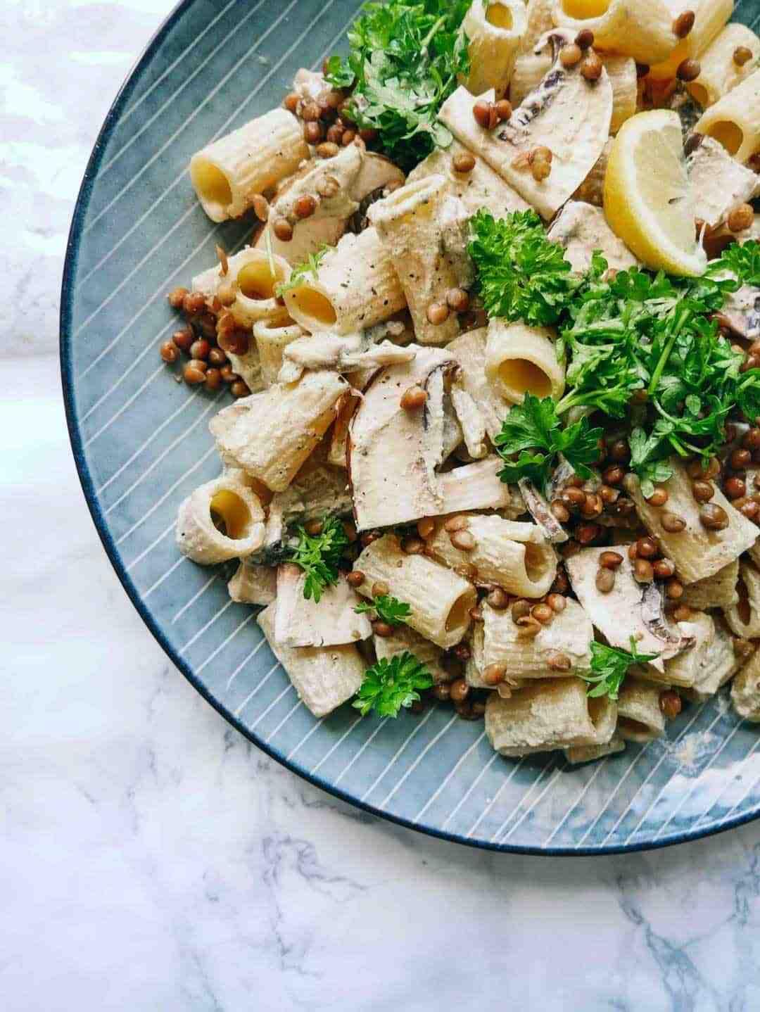 portobello pasta svampe