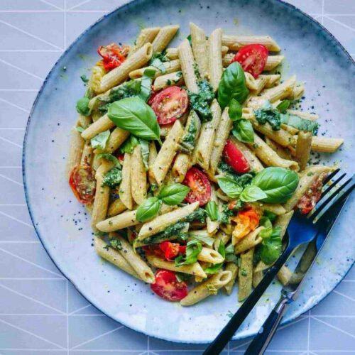 pasta penne easy recipe basil