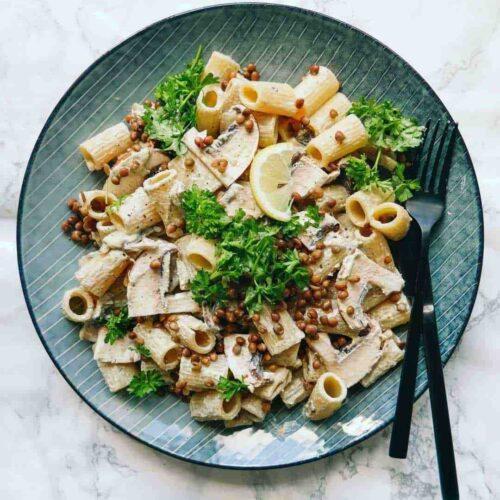 pasta svampe nem opskrift