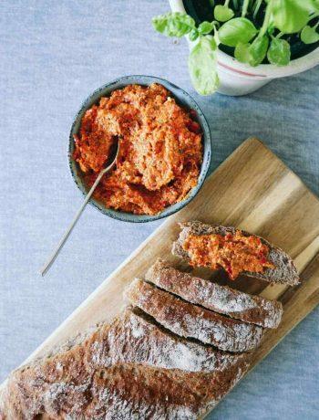 romesco pesto opskrift rød peber