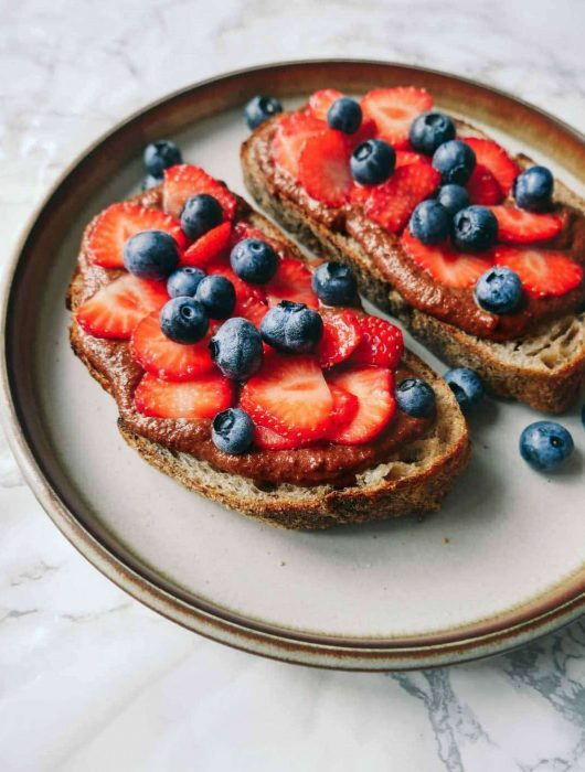 hjemmelavet nutella toast snack