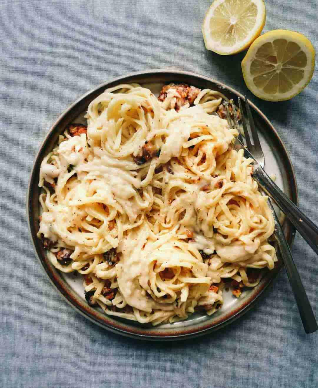 Vegansk Spaghetti Carbonara