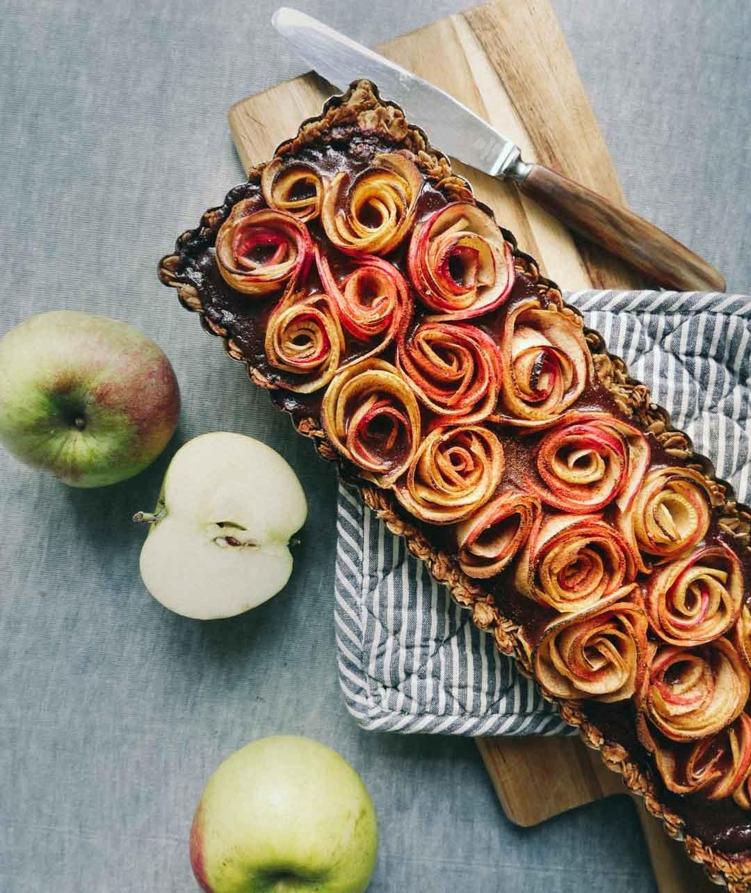 Glutenfri æbletærte med chokolade