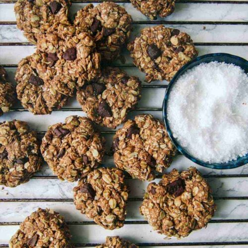 healthy chocolate cookies with oats
