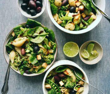 green tofu pasta salad recipe