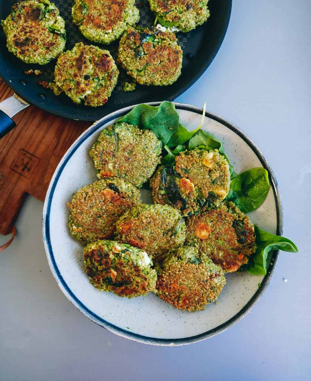 Vegetarian-patties-quinoa-spinach