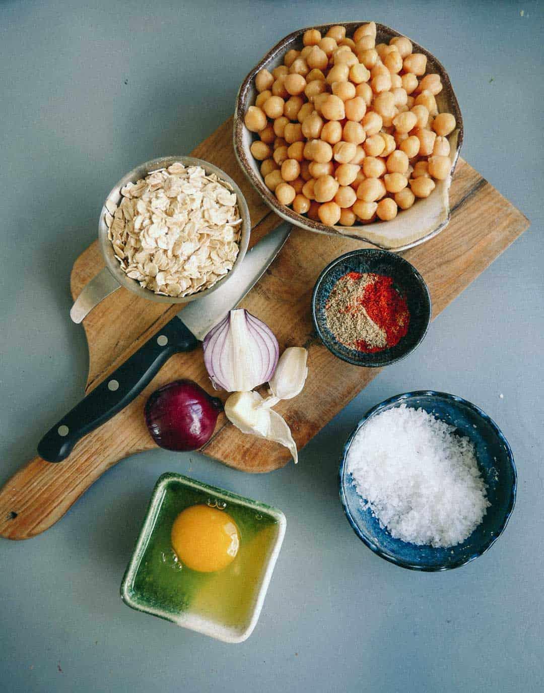 chickpeas patties ingredients