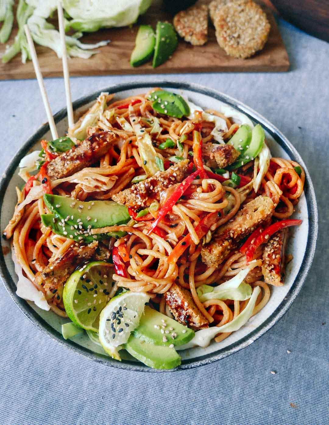 vegan spaghetti dinner