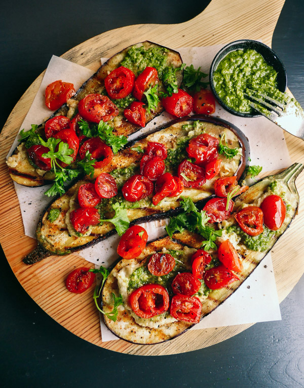 grilled aubergine recipe