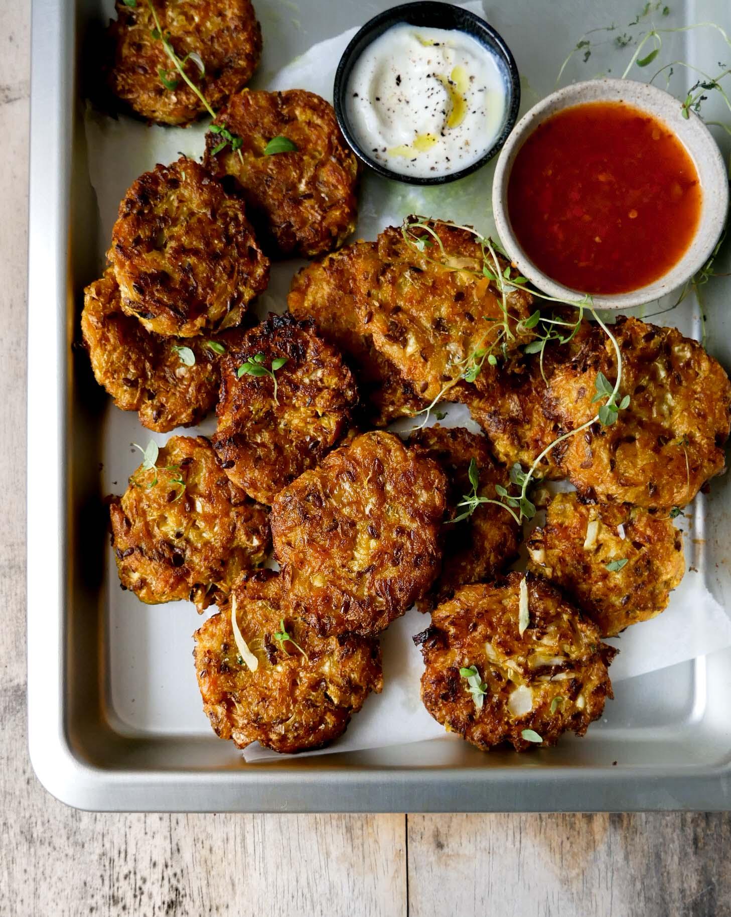 crispy vegan fritters recipe micadeli