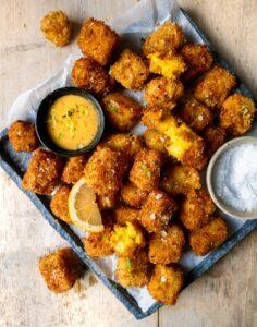 cheesy vegan potato tots
