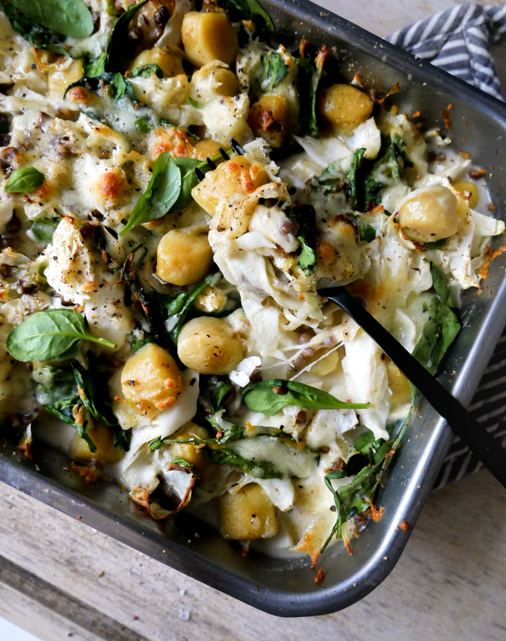 finish oven baked gnocchi cabbage micadeli