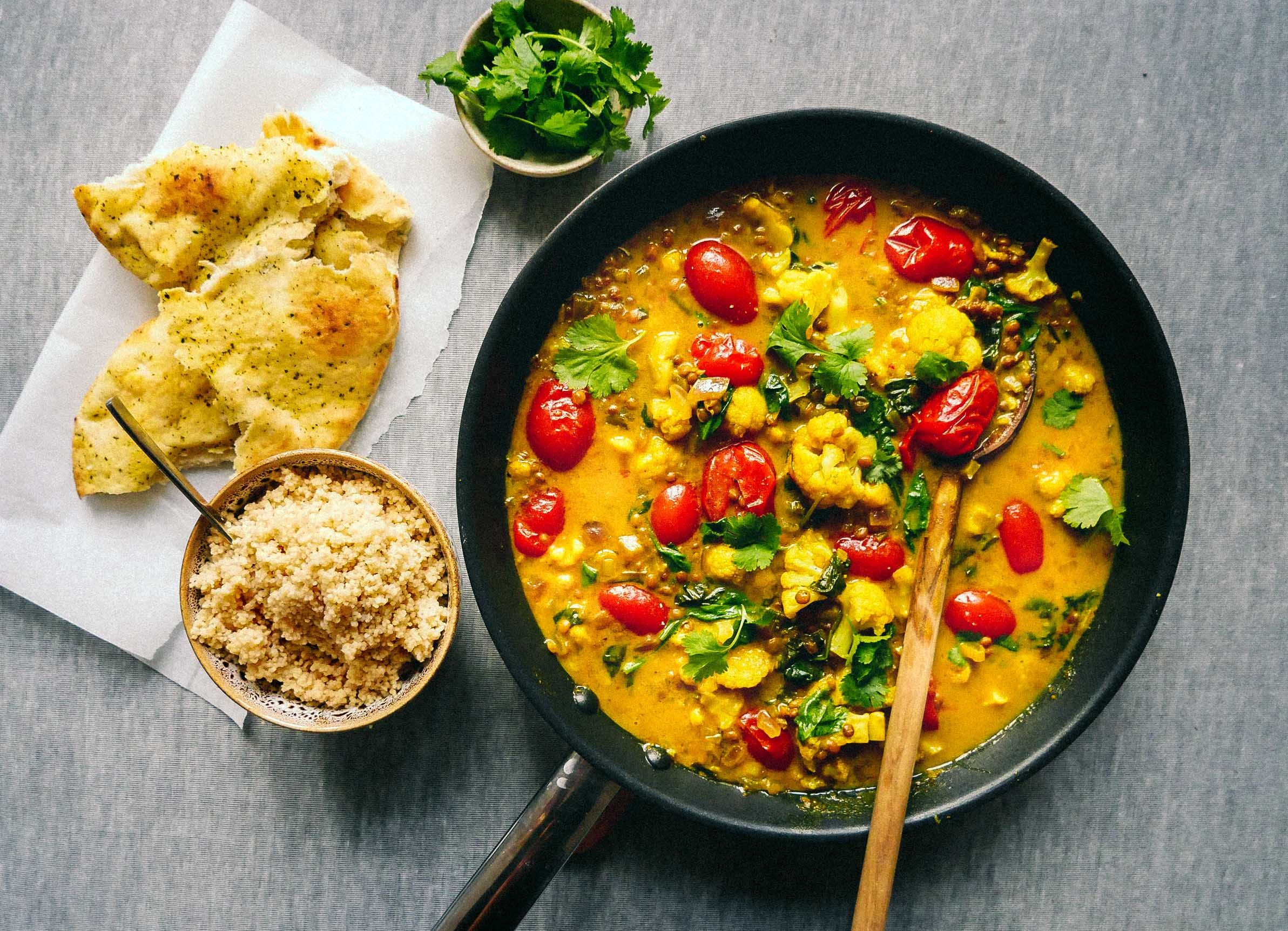 what to serve with vegan curry
