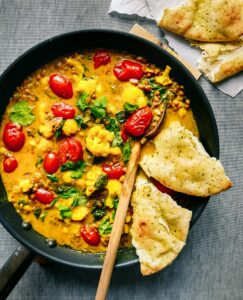 vegan curry with vegetables