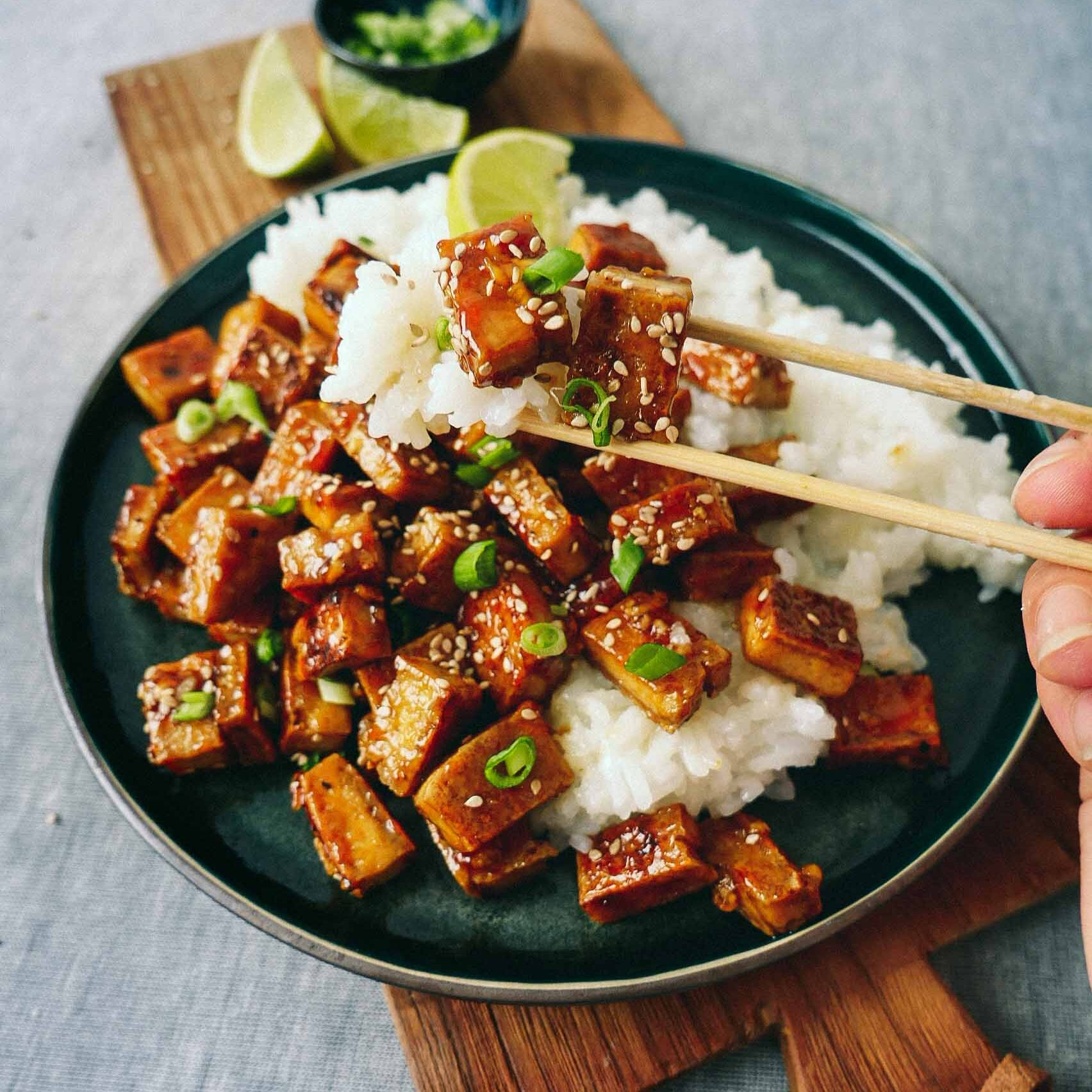 Sweet fried tofu