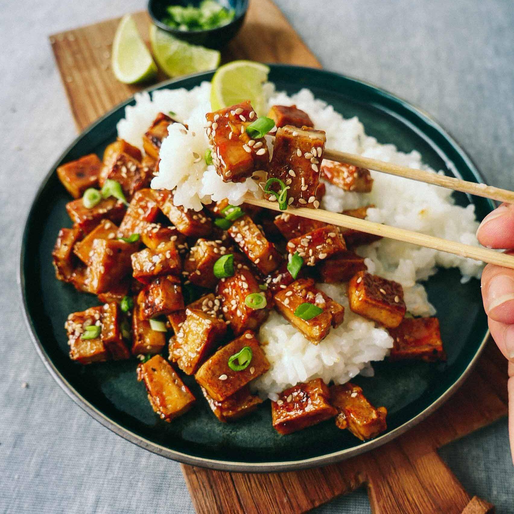 Sweet fried tofu