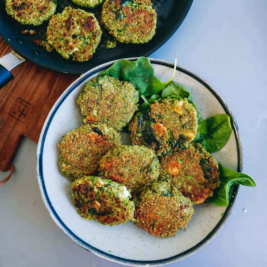 Vegetarian-patties-quinoa-spinach